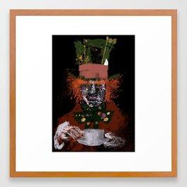 Hatter splatter Framed Art Print