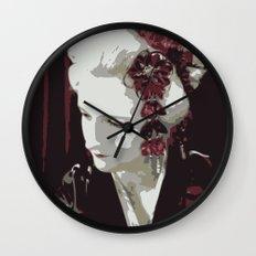 the fair-haired geisha Wall Clock
