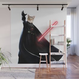darth vader cat Wall Mural
