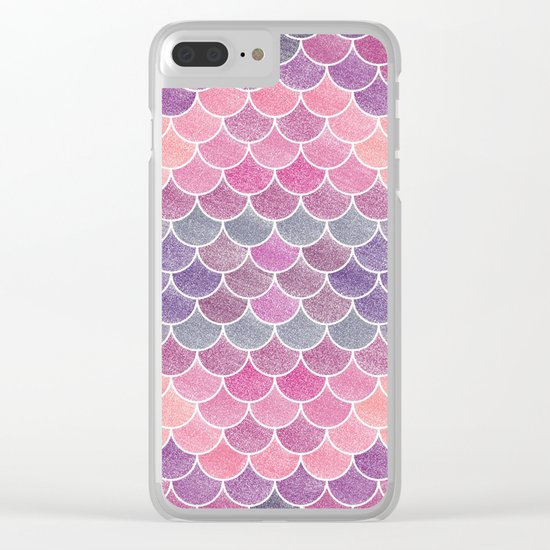 Lovely Pattern (Glitter Version) Clear iPhone Case