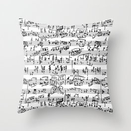 Hand Written Sheet Music Throw Pillow