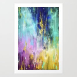 Galaxy Color Strokes Art Print