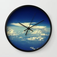cloud Wall Clocks featuring  Cloud by Sumii Haleem