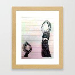 colour diamonds Framed Art Print