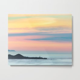 Sunset Overlooking the Yaquina Head Lighthouse Metal Print
