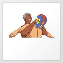 Full Nelson Mandela Art Print