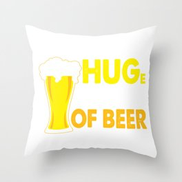 I Need a Huge Glass of Beer Brewing Drinking Throw Pillow