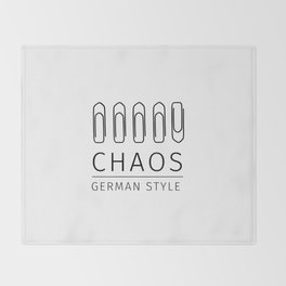 Chaos: German Style Throw Blanket