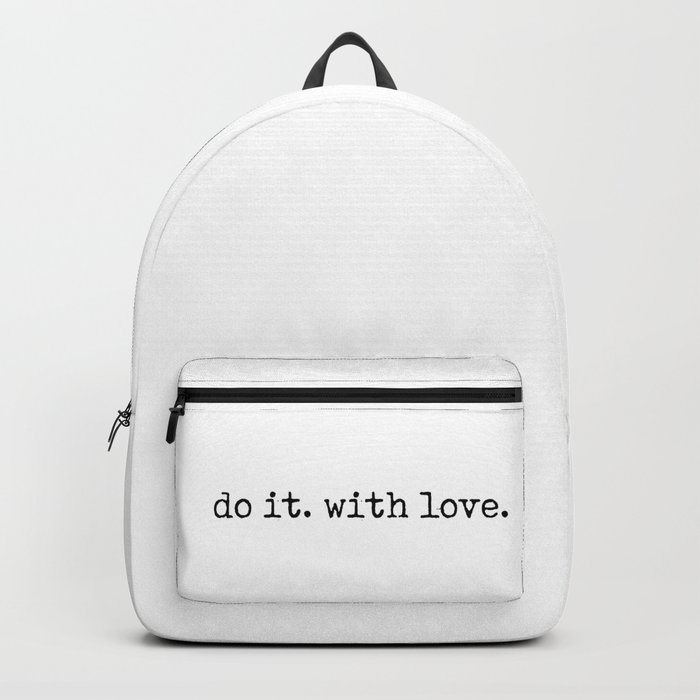 Do i. With Love. Typewriter Style Rucksack