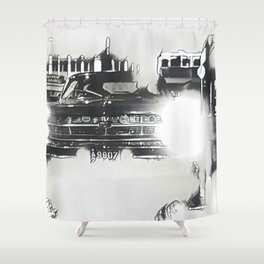 Death Drives Here Shower Curtain
