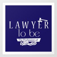 lawyer Art Prints featuring Lawyer by Be Raza
