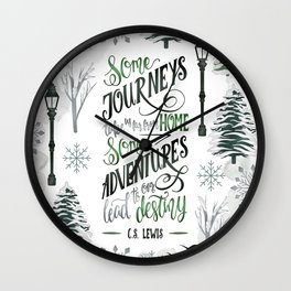 SOME JOURNEYS Wall Clock