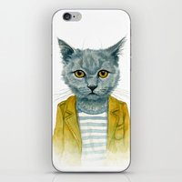 kitty iPhone & iPod Skins featuring Kitty by Leslie Evans