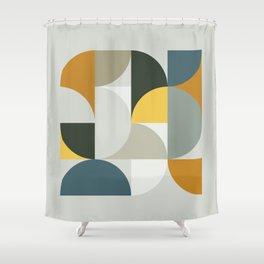Mid Century Geometric 13 Shower Curtain