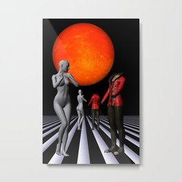 when they meet -1- Metal Print