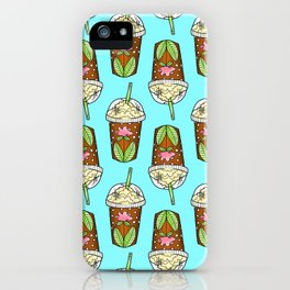 Cute Iced Coffee Cups iPhone Case