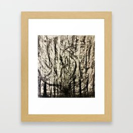 Lost in a Chaos Forest Framed Art Print