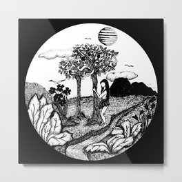 The Garden - Black Metal Print