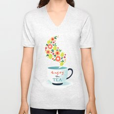 Enjoy the Tea Unisex V-Neck