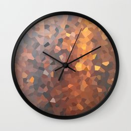 Amber Moon Lights Wall Clock