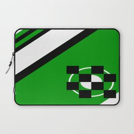 Simplicity - Green, black and white, geometric, abstract Laptop Sleeve