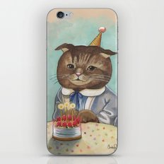 Happy Birthday Kitty iPhone & iPod Skin