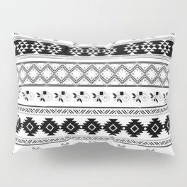Black & White Primitive Pattern Pillow Sham