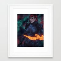 n7 Framed Art Prints featuring N7 by Weissidian