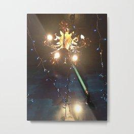 Glowing Flower Chandelier   Metal Print