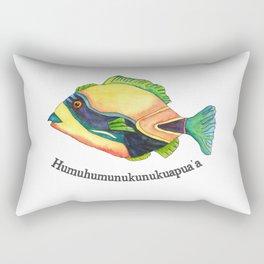 H is for Humuhumunukunukuapua'a Rectangular Pillow