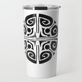 Tatouage Rond - round tatoo mandala - 3 Travel Mug