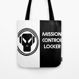 ALIEN BLACK AND WHITE MISSION CONTROL LOCKER Tote Bag