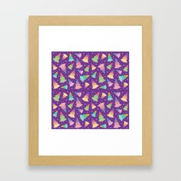 Chrismas Tree Pattern Framed Art Print
