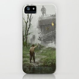 1920 - fisherman iPhone Case