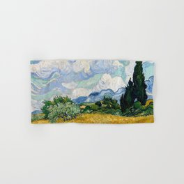 Wheat Field with Cypresses - Vincent van Gogh Hand & Bath Towel