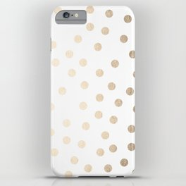 Simply Dots in White Gold Sands iPhone Case