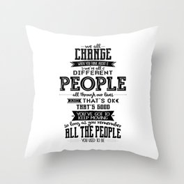 Doctor Who - We All Change Throw Pillow