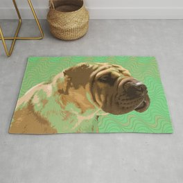 Shar Pei Waves Rug