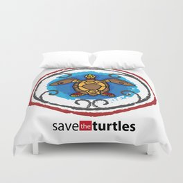 Save the Turtles Duvet Cover