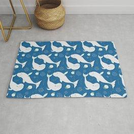 Beluga Whale Blue #homedecor Rug