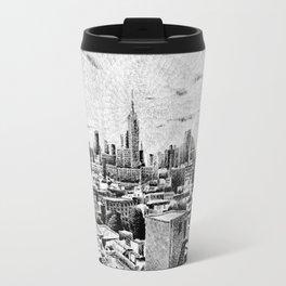 New York City - Fingerprint - Black ink Travel Mug