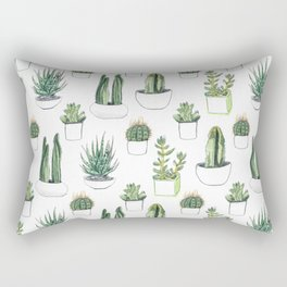 watercolour cacti and succulent Rectangular Pillow