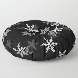 Black and White Winter Floor Pillow