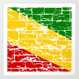 Rastafari Flag Art Print