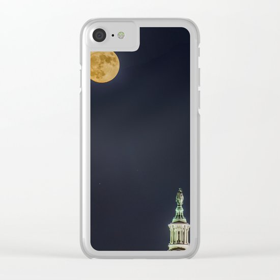Lady Freedom Clear iPhone Case