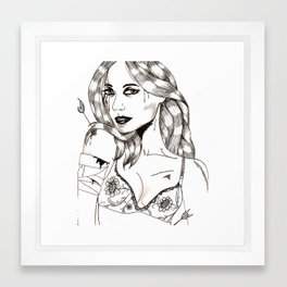 Girl with a thorn (s) in her side. Framed Art Print