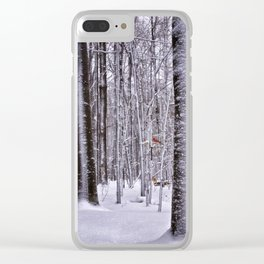 Winter in the Woods Clear iPhone Case