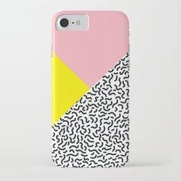 Memphis pattern 28 iPhone Case
