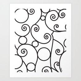 Parisian Scroll Art Print