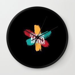 Open Your Mind Wall Clock